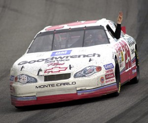 Harvick on his Victory Lap honoring Dale