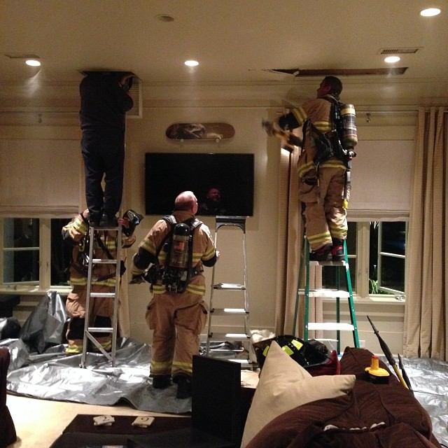 Fire At The Harvick's Home!