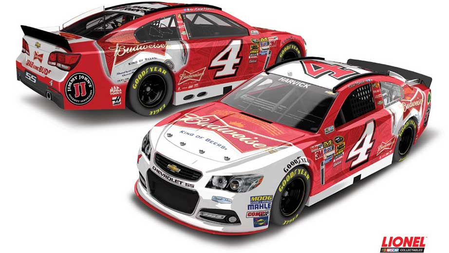 New paint schemes for Kevin Harvick's new number