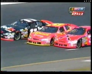 In a hurry to get to VL banging through three wide early in the race.