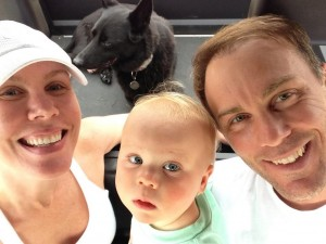 Kevin, Delana and Keelan Harvick